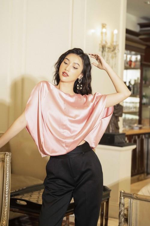 Sixdo Pink Silk Top